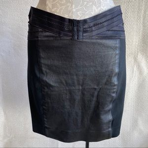Elizabeth & James Vegan Leather Bandage Skirt NWOT